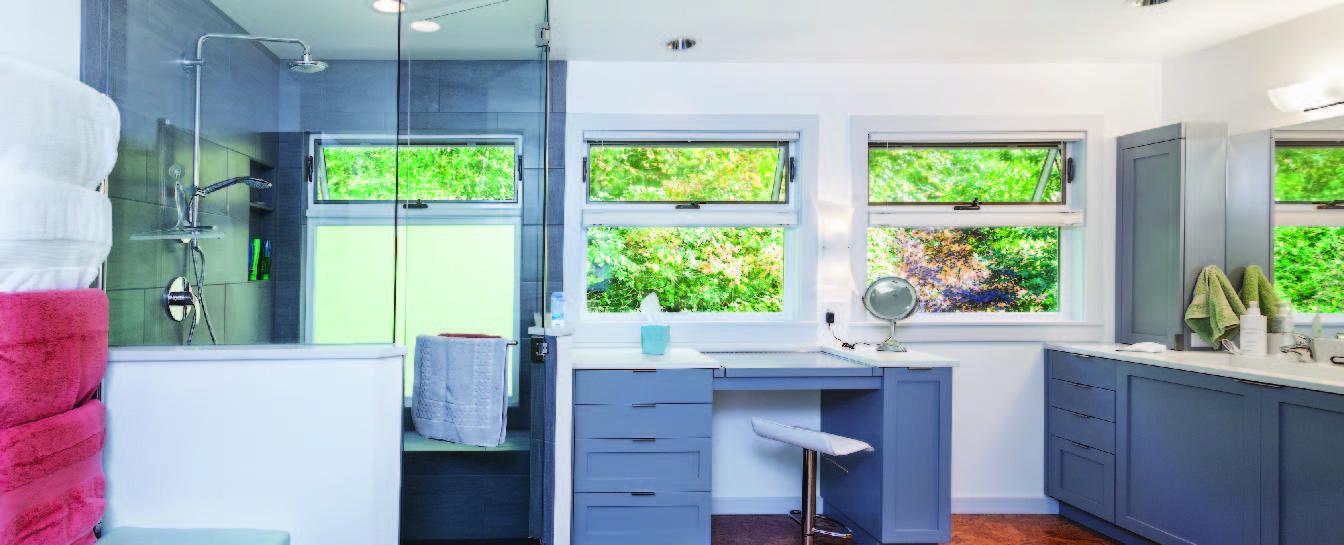 Bathroom glass shower enclosure fabrication