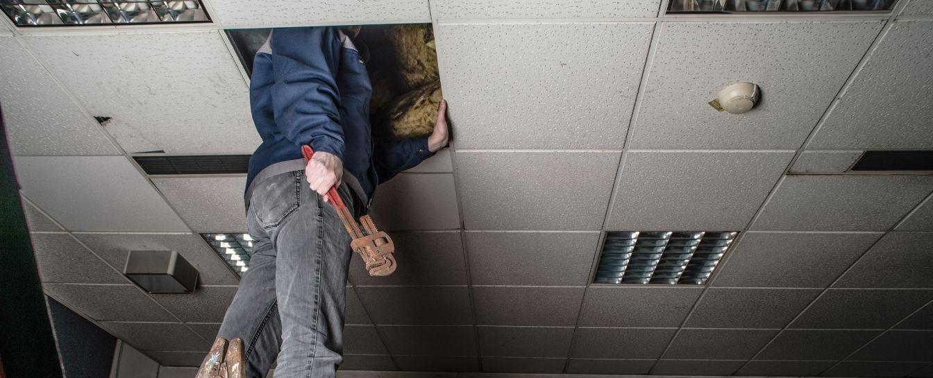 Bathroom or kitchen drop ceiling repair