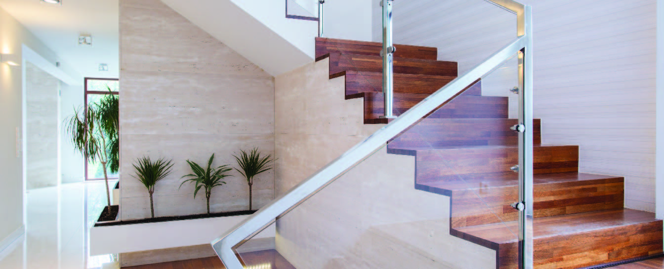 Glass staircase fabrication