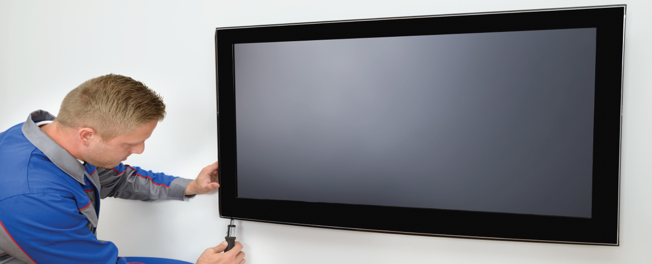 LCD TV mounting