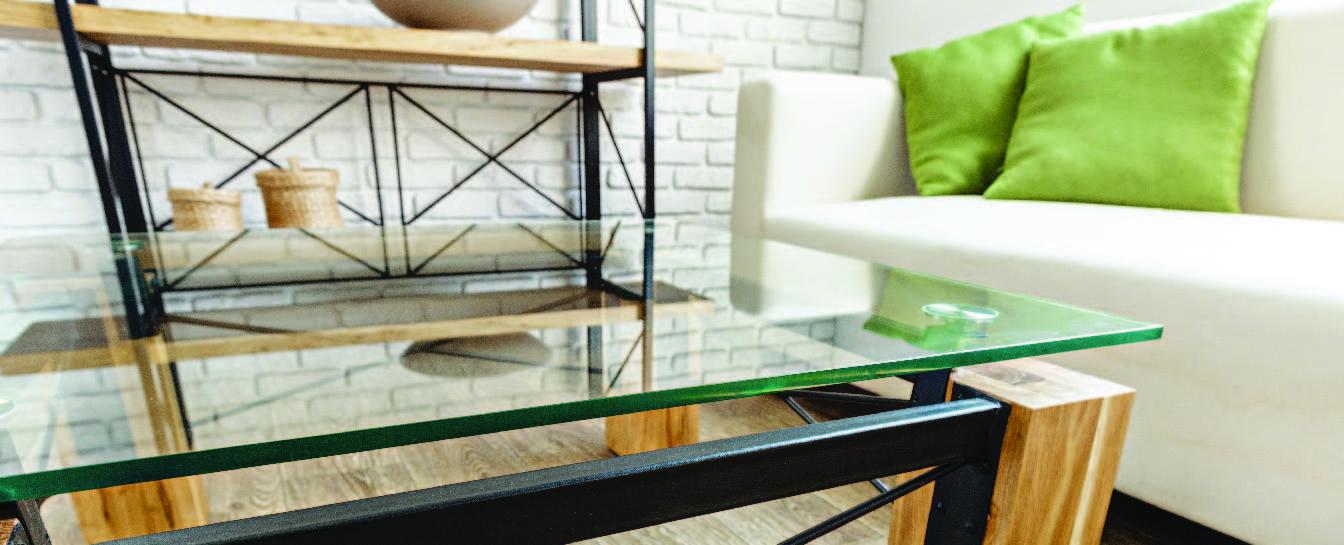 Tabletop glass slab cutting
